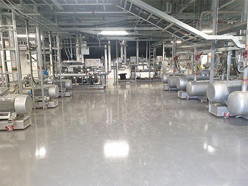 industrial refrigeration plant with heat pump derby